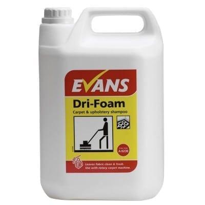 Evans - Dri-Foam Carpet & Upholstery Shampoo- 5 litre