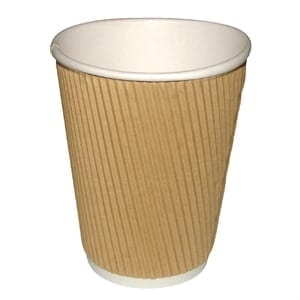 Brown Ripple Wall Hot Drink Cup 8oz from Loorolls.com