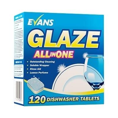 Evans - GLAZE All in 1 Dishwash Tablets - Box 120