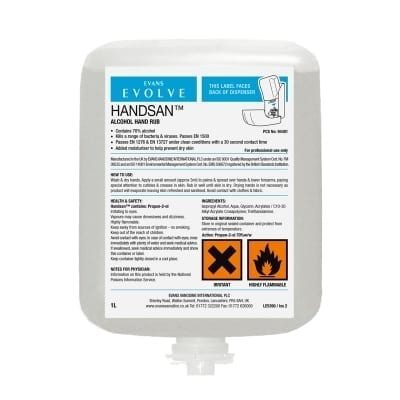 Evans - HANDSAN Alcohol Sanitiser 6 x 1 litre