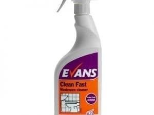 Evans - CLEAN FAST Washroom Cleaner - 6 x 750ml