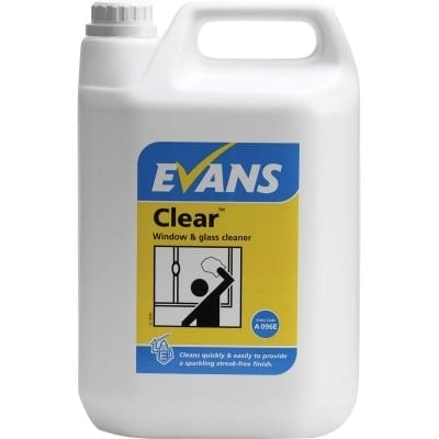 Evans - CLEAR Window, Glass & Stainless Steel Cleaner - 5 litre