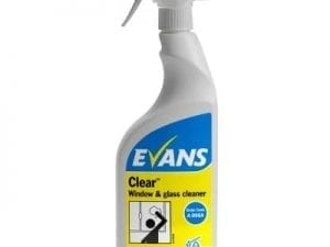Evans - CLEAR Window Glass & S/Steel Cleaner - 6 x 750ml Trigger