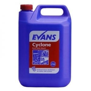 Highly Perfumed Thickened Bleach Evans CYCLONE Thick Bleach 5 litre