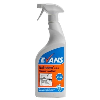 Evans - EST-EEM Cleaner & Sanitiser - 6 x 750ml Trigger