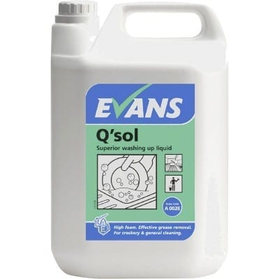 Evans - Q'SOL Washing Up Liquid - 5 litre