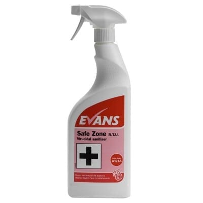 Evans - Safe Zone Disinfectant Cleaner - 6 x 750ml