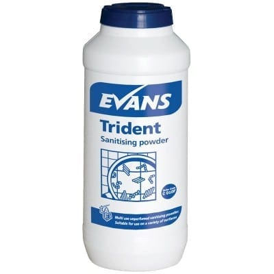 Evans - TRIDENT Blue Multi Purpose Sanitising Powder - 500g