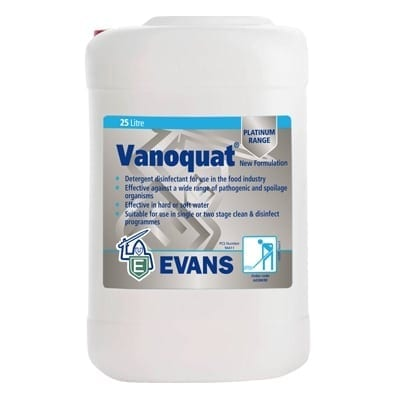 Evans - VANOQUAT Concentrated Disinfectant - 25 litre