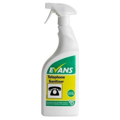 Evans - TELEPHONE SANITISER - 750ml Trigger