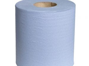 Centrefeed 2ply Blue 400 sheet Glue Embossed - Container Deal £4.25+-2857