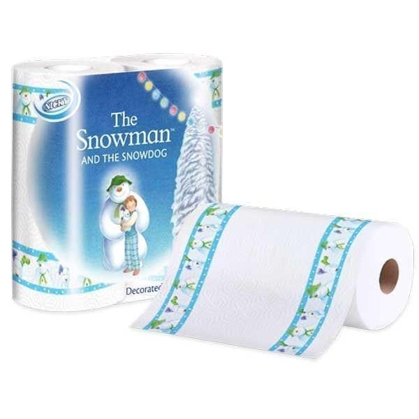 nicky snowman and snowdog kitchen rolls