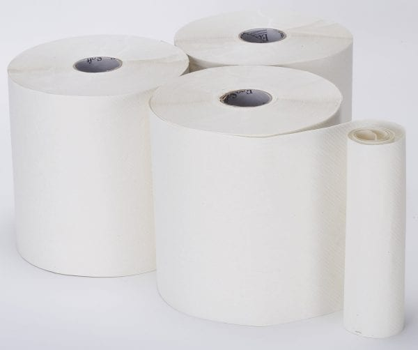 Bay West Roll Towels Softeco Opti-Serv 1ply White 190m 6 rolls per case-0