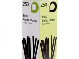 Loorolls.com Black Bendy Straws