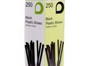 Loorolls.com Black Bendy Straws