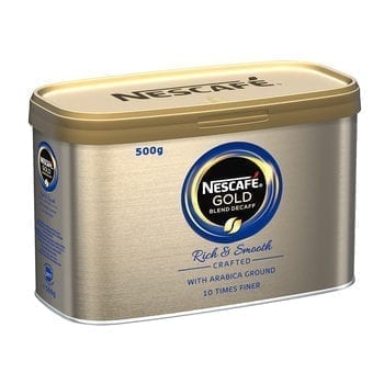 Nescafe Coffee Gold Blend Decaff - 500g Tin 1