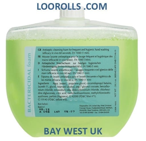 Loorolls.com Bay West Bactericidal Foam Soap 800ml
