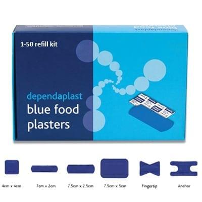 First Aid 1 - 50 Person Food Hygiene Refill Kit, All Blue from Loorolls.com