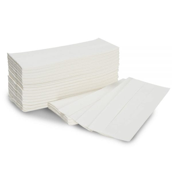 C Fold Paper Hand Towels Flight/Flushable 2ply - White - Box 2295