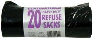 Bin Bags on a Roll - Heavy Duty - 98 litre - 20 x 20 Box