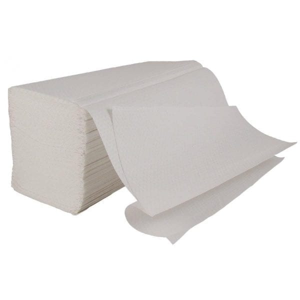 Interfold Paper Hand Towels 1ply - White - Box 4600