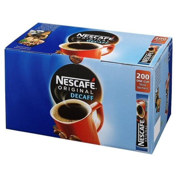 Nescafe Decaff Coffee Sticks - Box 200