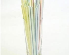 "Straws 8"" Striped Flexi - Box 250"