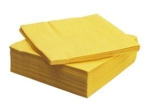 Loorolls.com 40cm 3ply Yellow Napkin 1000's