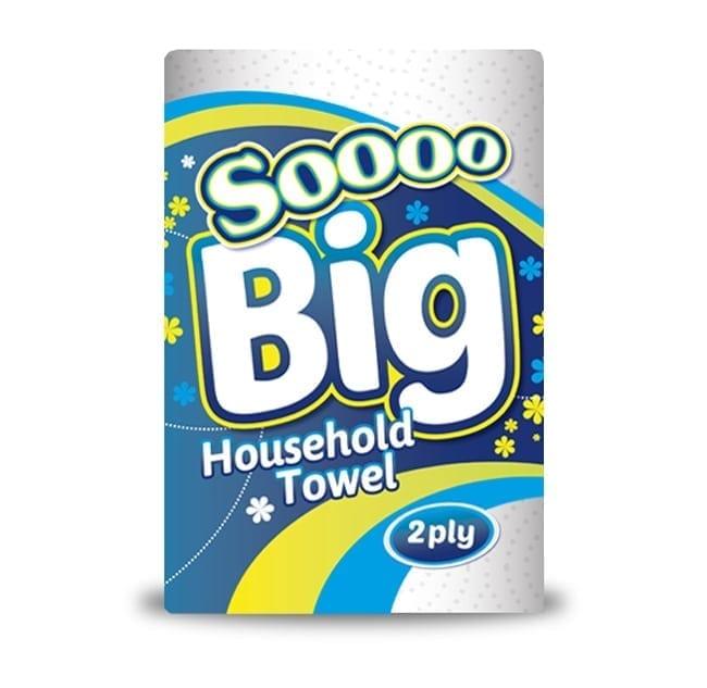 Soooo Big Jumbo 2ply Single Kitchen Roll - 12 Pack