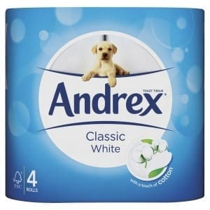 Andrex Toilet Paper Classic White - 24 Pack