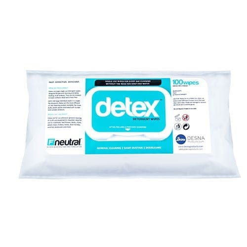Desna Detex Neutral Detergent wipes 100's