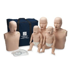 Prestan Professional Training Manikin Family with CPR Monitors Lung Bags