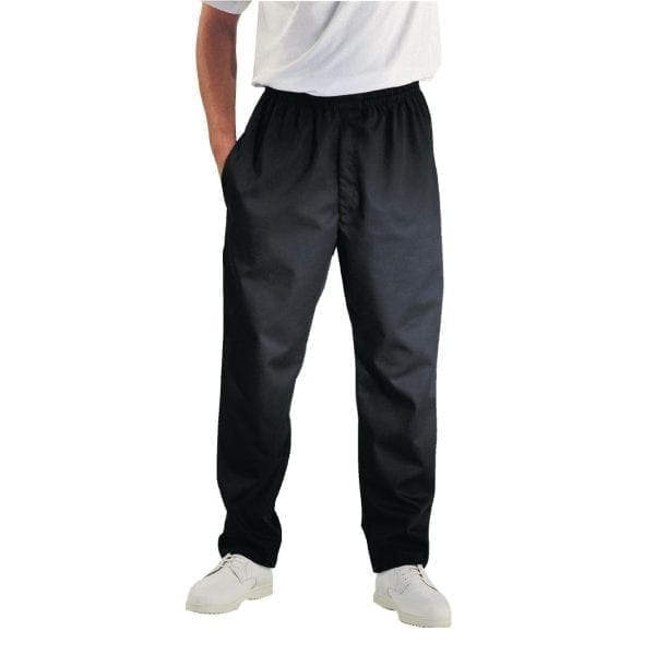 Chef Works Unisex Easyfit Pants Black (Teflon Coated) Polycotton - Size S-0