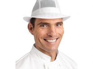 Trilby Hat White - Size L-0