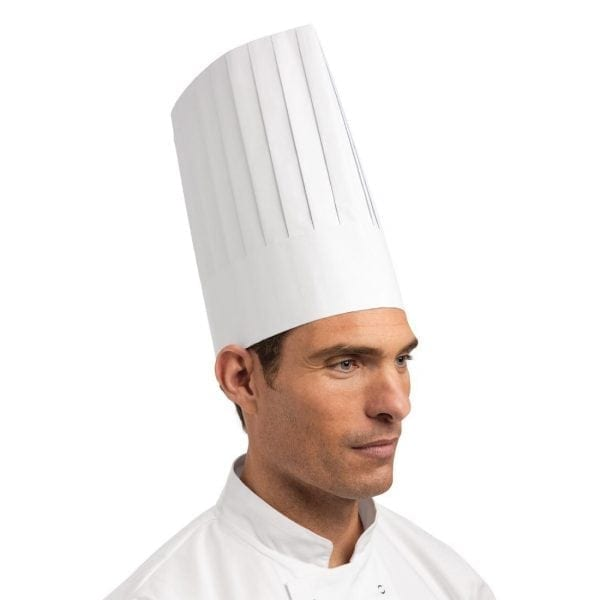 Disposable Toque Chefs Hat White - One Size (Box 50)-0