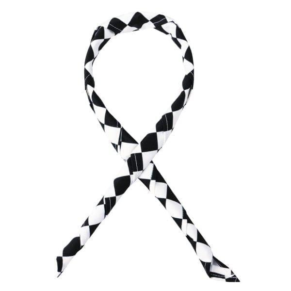 Coloured Neckerchief Big Black/White Check-0