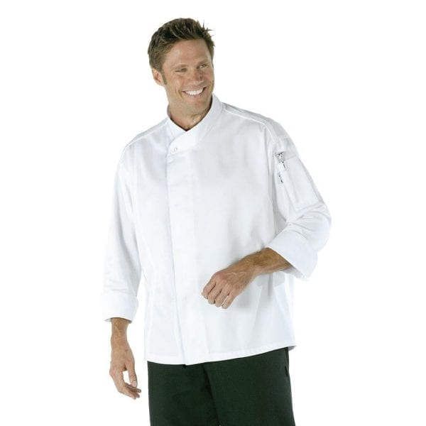 Chef Works CoolVent Chef Jacket Long Sleeve White - Size S-0