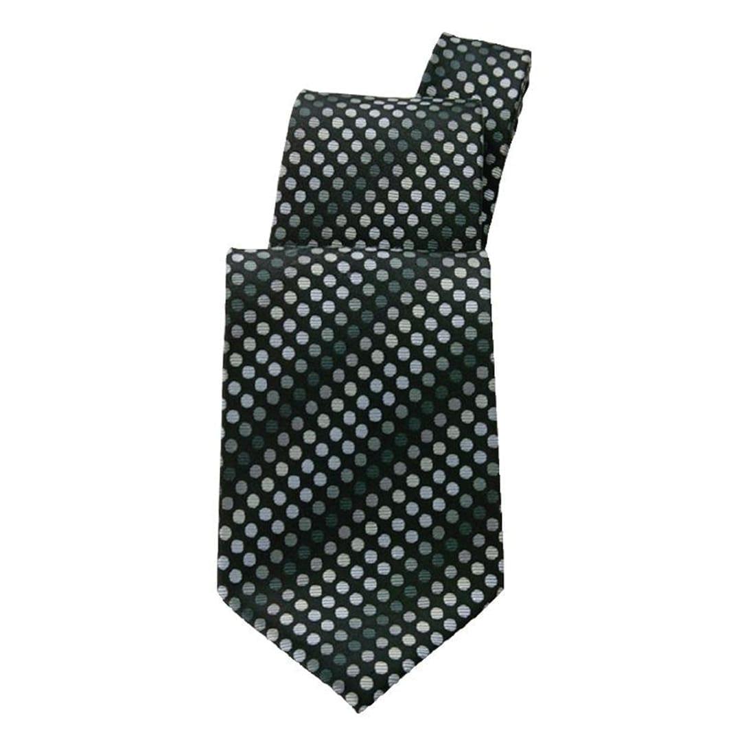 Uniform Works Black Polka Dot Tie (TPPDBLK) (B2B)-0