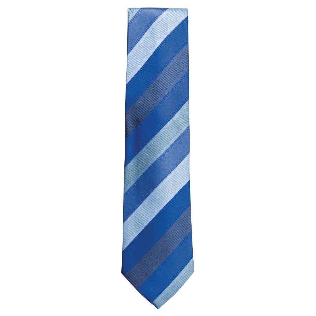 Uniform Works Blue Six Stripe Tie (TP6SBLU) (B2B)-0
