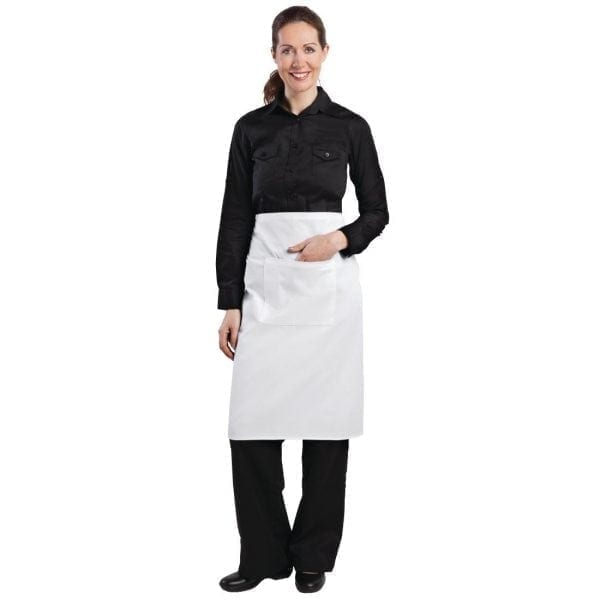"Bistro Apron White - 1000x700mm 39.4x27.5""-0"