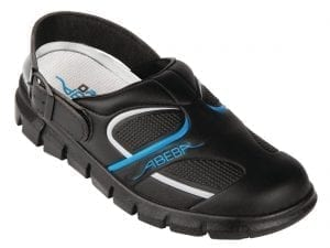 Abeba Black Microfibre Slip On - Size 43-0