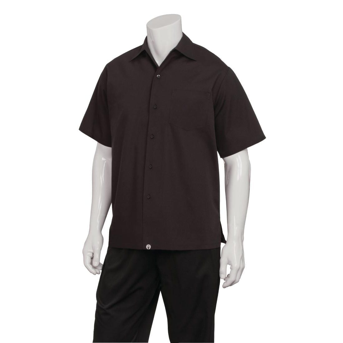 Chef Works Black Cafe Shirt (C100) - Size XS (B2B)-0