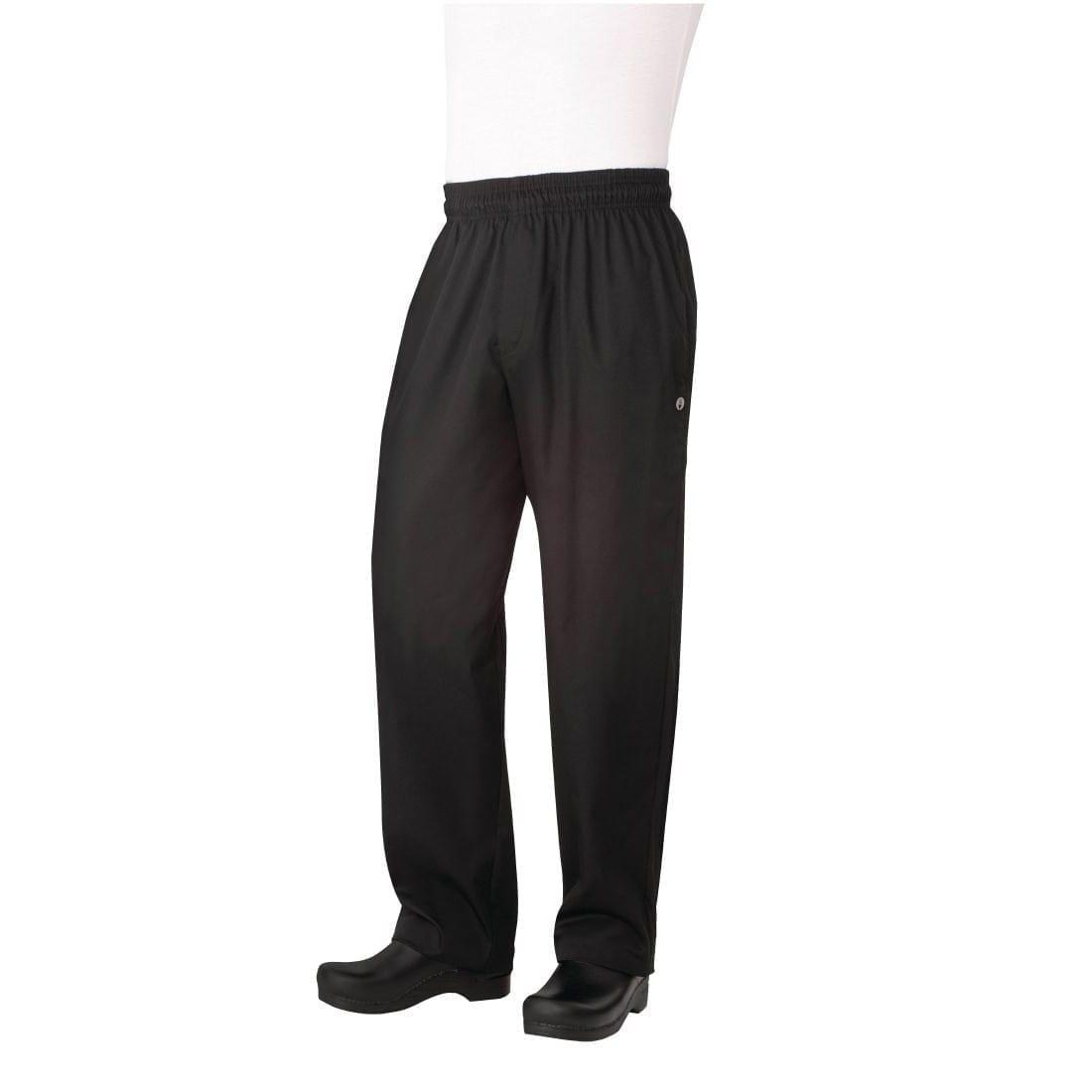 Chef Works Basic Baggy Zip-Fly Black (NBBZ) - Size L (B2B)-0