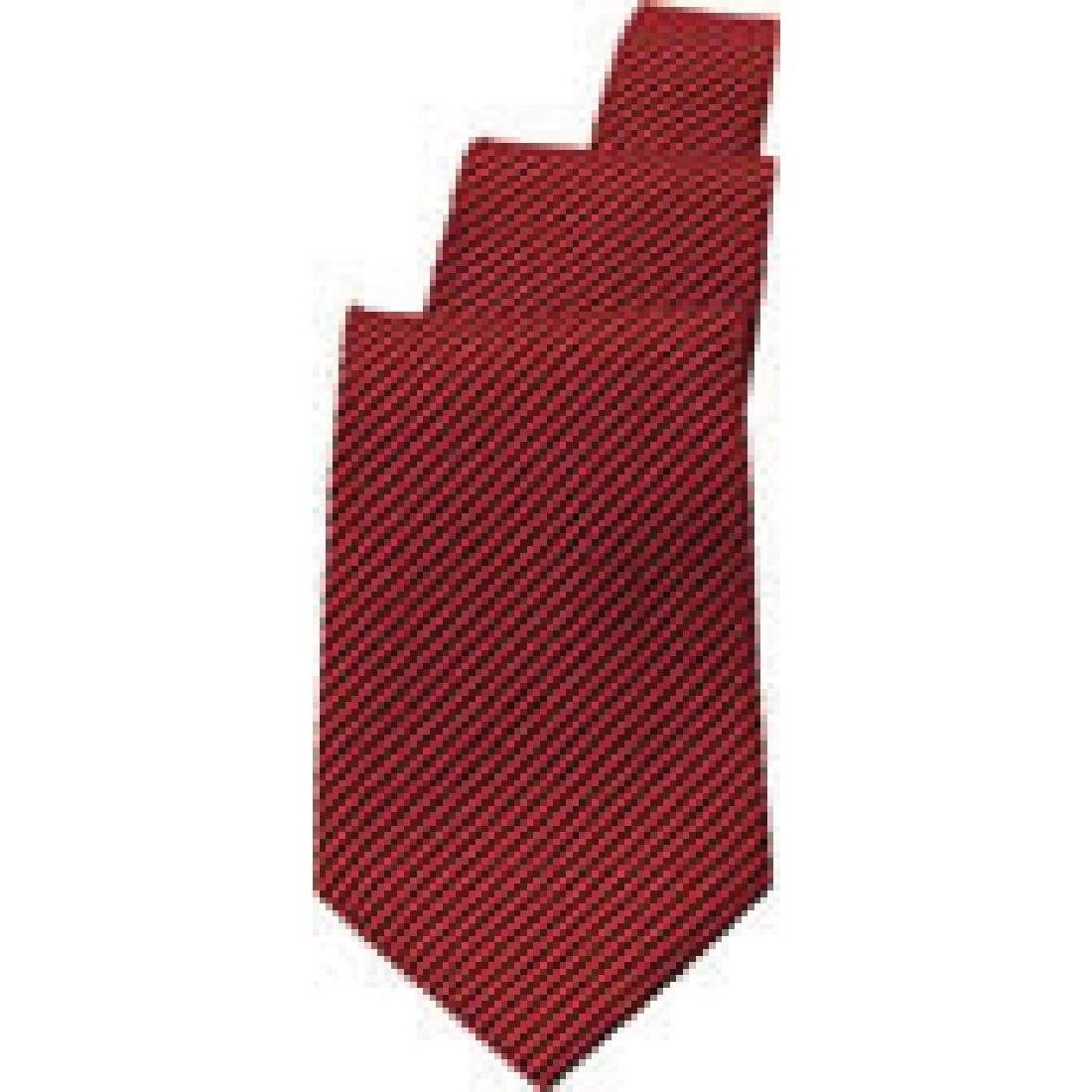 Uniform Works Burgundy/Black Striped Tie (TPASBLR) (B2B)-0