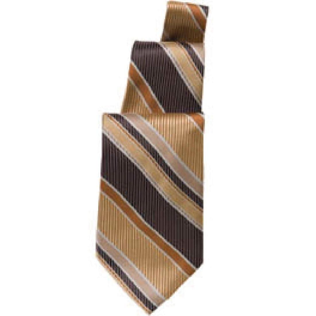 Uniform Works Brown/Gold Striped Tie (TPSTBNB) (B2B)-0