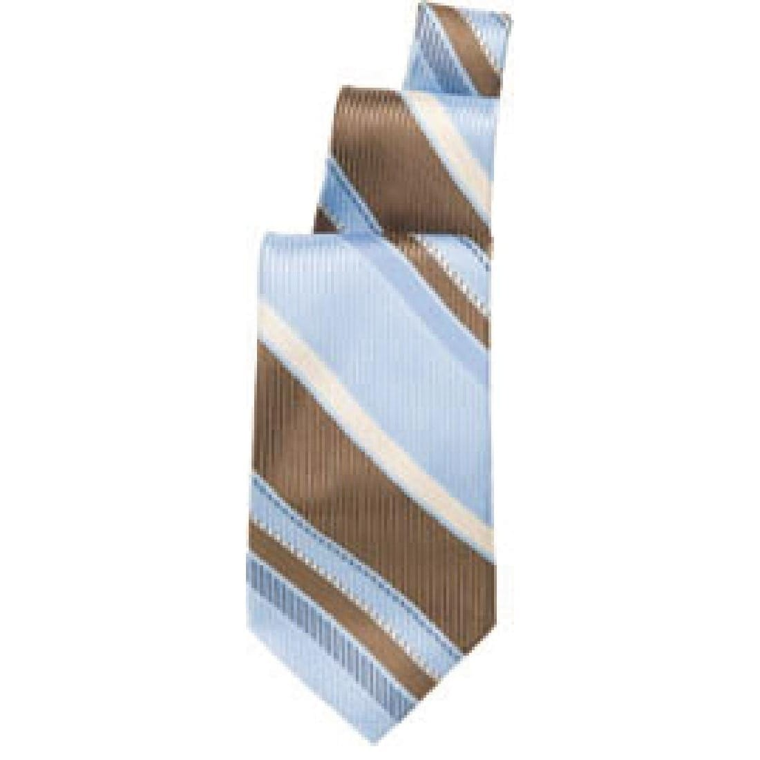 Uniform Works Blue/Brown Striped Tie (TPSTLAB) (B2B)-0