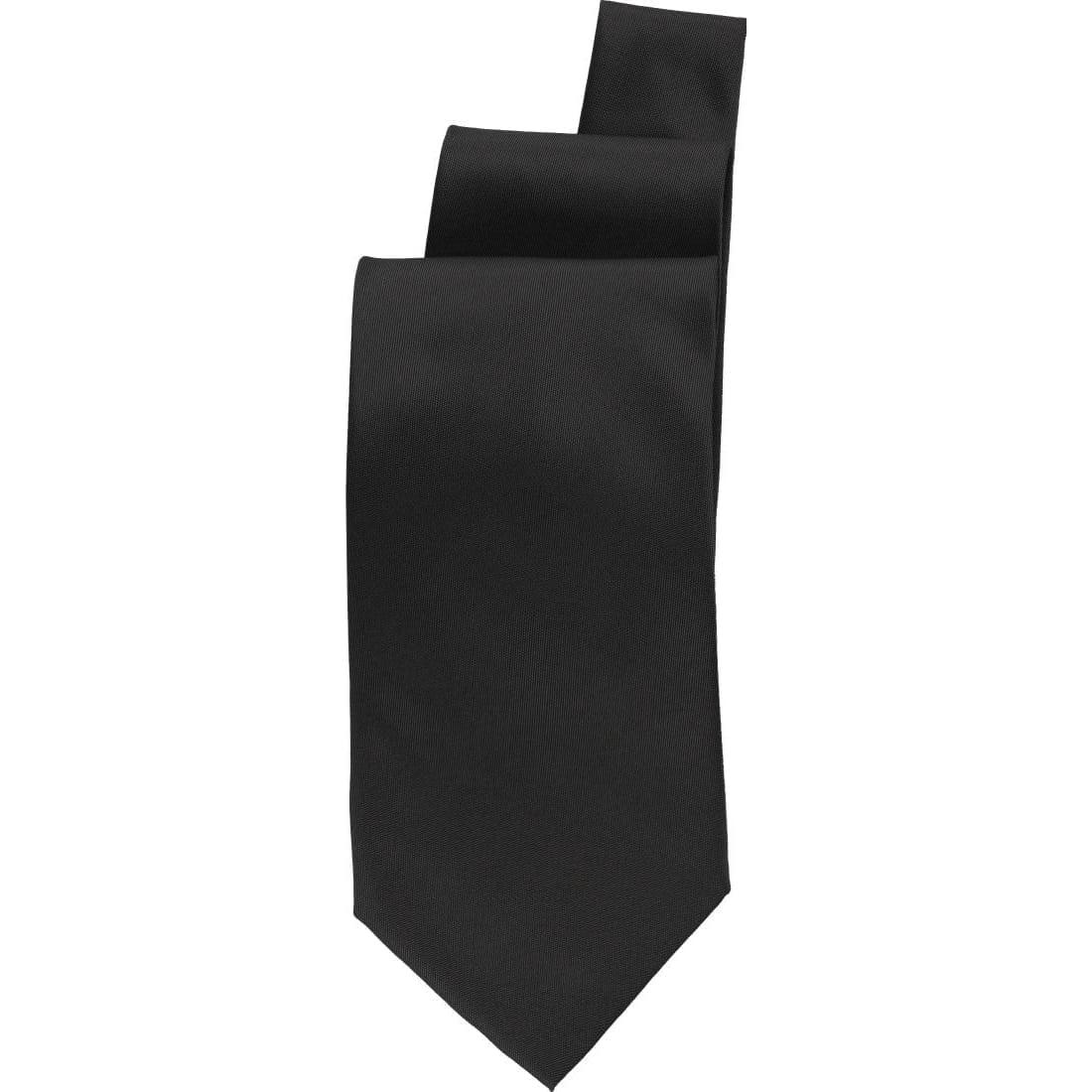 Uniform Works Black Satin Finish Tie (TSPNBLK) (B2B)-0