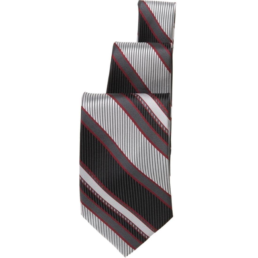 Uniform Works Black/Red Striped Tie (B2B)-0