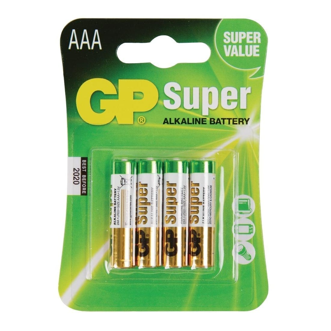 GP Battery Alkaline 'AAA' (Pack 4)-0