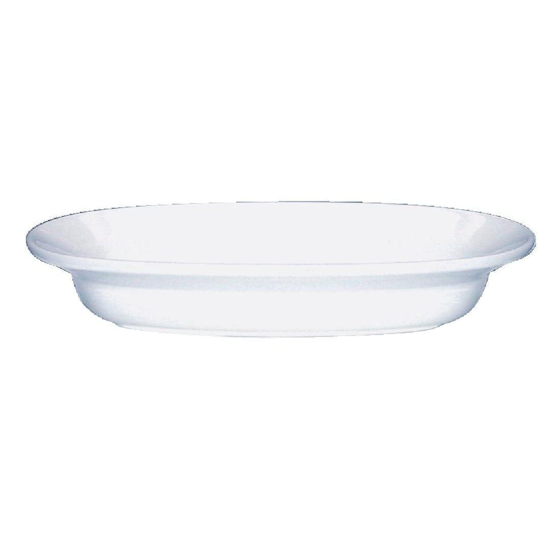 "Alchemy White Oval Bowl - 9"" (Box 12) (Direct)-0"